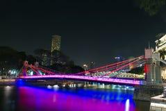 De brug in de stad Stock Fotografie