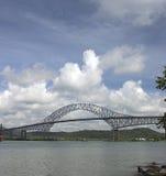 De brug door het kanaal van Panama Royalty-vrije Stock Afbeelding