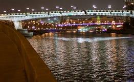 De brug door Moskou-Rivier Royalty-vrije Stock Foto
