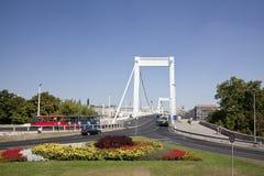 De brug Elisabeth in Boedapest Stock Foto's