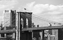De Brug en Manhattan van Brooklyn royalty-vrije stock afbeeldingen