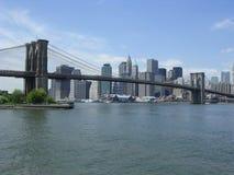 De Brug en Manhattan van Brooklyn Stock Afbeeldingen