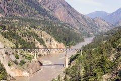 De Brug Fraser River van het treinspoor Stock Foto's