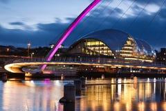 De Brug Gateshead van het millennium stock foto