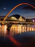 De Brug Gateshead van het millennium stock foto's