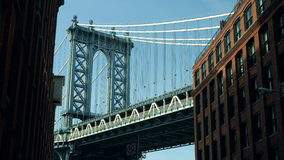 De Brug Iconisch Schot van Manhattan stock video