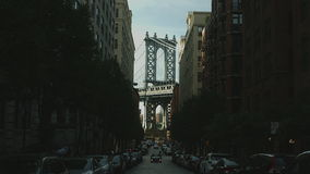 De Brug Iconisch Schot van Manhattan stock footage