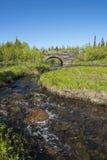 De brug Jamtland van de steenboog Stock Afbeeldingen