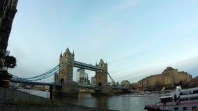 De Brug Londen, het Verenigd Koninkrijk van de time lapsetoren stock footage