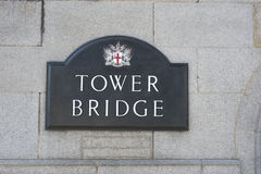 De brug Londen van de toren Stock Fotografie