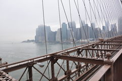 De brug Manhattan, nowy jork van Brooklyn Stock Foto's