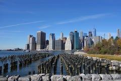 De Brug New York Manhattan Hudson River van Brooklyn royalty-vrije stock foto
