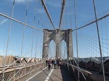 De brug New York van Brooklyn zonder bezig royalty-vrije stock afbeelding