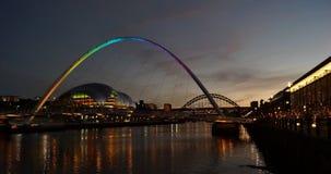 De Brug Newcastle van het millennium op de Tyne Stock Afbeelding