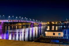 De brug op de Donau Stock Afbeeldingen