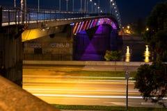 De brug op de Donau Stock Foto