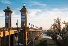 De brug over de Dnieper-rivier Royalty-vrije Stock Foto
