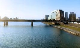 De brug over het overzees aan Miyazaki, Japan royalty-vrije stock foto