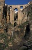 De brug in Ronda Royalty-vrije Stock Afbeeldingen