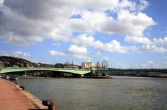 De brug in Rouen Stock Afbeeldingen