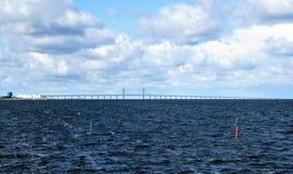 De brug tussen Denemarken en Zweden stock fotografie