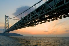 De brug van Akashikaikyo Stock Fotografie