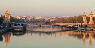 De Brug van Alexandre III brug, Parijs frankrijk royalty-vrije stock fotografie