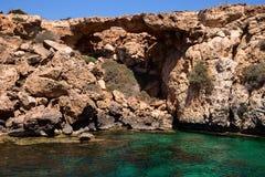 De brug van Aphrodite, Cyprus, Famagusta stock afbeeldingen