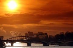 De brug van Austerlitz in Parijs Royalty-vrije Stock Afbeeldingen