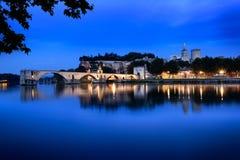 De Brug van Avignon stock afbeeldingen
