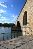 De Brug van Avignon stock foto's