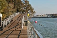 De brug van Barqueta Stock Fotografie