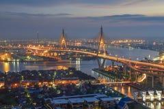 De Brug van Bhumibol, Bangkok, Thailand royalty-vrije stock fotografie