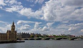 De brug van de Big Ben en van Westminster royalty-vrije stock foto's