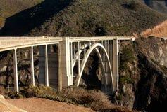 De Brug van Bixby - Groot Sur - Californië Stock Afbeelding