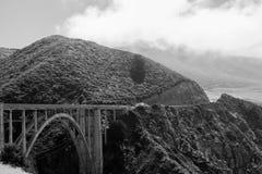 De Brug van Bixby - Groot Sur - Californië Royalty-vrije Stock Afbeeldingen