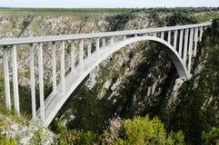 De Brug van Bloukrans, Zuid-Afrika Stock Afbeeldingen