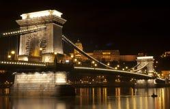 De brug van Boedapest Stock Afbeeldingen