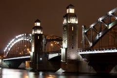 De brug van Bolsheokhtinsky Stock Foto's
