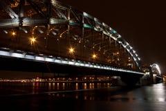 De brug van Bolsheokhtinsky Stock Fotografie