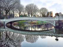 De Brug van de boog in Central Park Royalty-vrije Stock Foto's