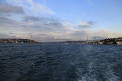 De Brug van Bosphorus, Istanboel Stock Foto