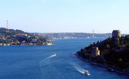De Brug van Bosphorus - Istanboel - Turkije Stock Afbeeldingen