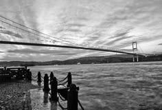De Brug van Bosphorus, Mening aan Azië van Europa, Istanb Royalty-vrije Stock Afbeeldingen