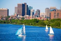 De Brug van Boston Harvard in Charles-rivier stock foto's