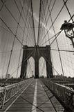 De Brug van Brooklyn in de stad van New York stock foto's