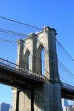 De Brug van Brooklyn, de Stad van New York Stock Afbeeldingen
