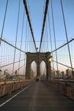 De Brug van Brooklyn in de stad van New York royalty-vrije stock afbeelding