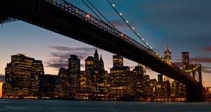 De brug van Brooklyn, de Stad van New York Stock Fotografie