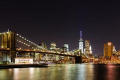 De Brug van Brooklyn - de Stad van New York Royalty-vrije Stock Fotografie